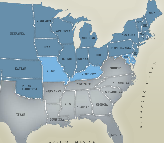 Map of the United States in 1860 - Mr. Tessin United States In Map on map of america in 1860, united states flag in 1860, blank united states in 1860, number of american states in 1860, south america map in 1860, union states in 1860, united states postal service in 1860, map of usa in 1860, northern states in the us in 1860, united states of america in 1860, us map in 1860, india map in 1860, map of europe in 1860, texas map in 1860, map of western states in 1860, states and capitals in 1860,